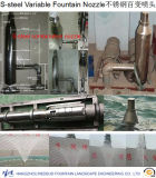 Переменное сопло фонтана в нержавеющей стали