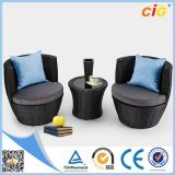 Design新しい3PCS Outdoor Rattan Eggの庭Furniture