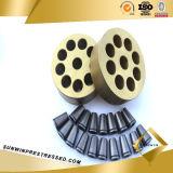 Galvanisé Multiholes Wedge Plate pour PC Strand