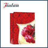 Moda Dia dos Namorados Red Rose Hand Shopping Gift Paper Bag