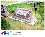 Inclinazione nera Tomstone del granito di Shangxi di disegno del cliente per i memoriali