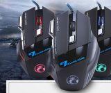 Ergonomische verdrahtete Spiel-Maus des Form-Entwurfs-7D