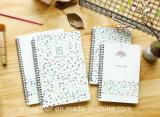 cuaderno espiral del papel del cuaderno de la escuela de la manera