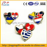 2016 aduana Different Shapes de Pin Badge de Metal Flag de los países de Different