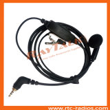 Écouteur de bourgeon d'oreille avec le microphone et les PTTs intégrés pour la radio bi-directionnelle