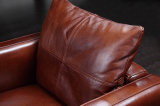 Sofá superior do couro da sala de visitas do couro de grão de Italy (HC3026)