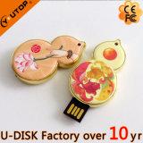 Personized Teléfono PVC Disco USB, crear su propia aduana 3D con forma de USB Flash Drive