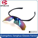 O quadro preto superior de vidros de segurança da soldadura Anti-UV400 polarizou a pesca de ciclagem da lente que caminha a viagem levanta acima o envoltório em torno dos óculos de sol