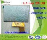 4.3 alta luminosità di pollice 480X272 RGB 40pin, schermo dell'affissione a cristalli liquidi di TFT