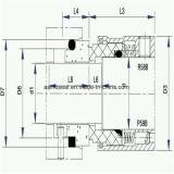 Selo múltiplo da mola do selo mecânico para Johncrane 59b