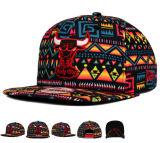 Protezione gialla rossa dei cappelli di Snapback di marchio del ricamo delle lane 3D