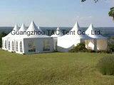 10X10m weiße Hochzeits-grosses Pagodegazebo-Hochzeitsfest-Zelt mit Vorhängen u. Futtern