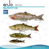 Señuelo bajo de muchas secciones selecto de la pesca de los trastos de pesca del pescador con Vmc los ganchos de leva agudos (MS1516)
