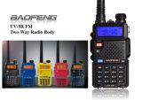 Radio-Noir bi-directionnel du jambon 5W tenu dans la main à deux bandes de Baofeng UV-5r VHF/UHF de talkie-walkie de Baofeng