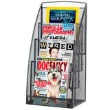 Карманные стальные кассета сетки 4 и стеллаж для выставки товаров газеты