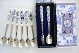 Керамический Cutlery нержавеющей стали ручки установил с коробкой подарка