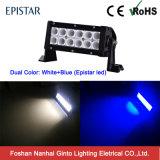 Barre blanche et bleue de couleur duelle de forte intensité d'éclairage LED