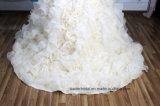Мантий шарика Organza платье венчания A201798 фотоих Bridal реальное