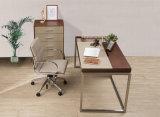 新式の現代革MDFの事務机のオフィス表(WE04)
