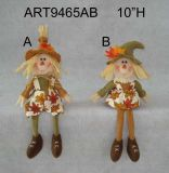 Feliz Cosecha Decoración Scarecrow Boy and Girl