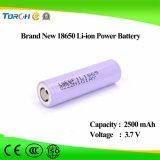Batteria profonda di potere del litio 18650 del ciclo 3.7V 2500mAh di piena capacità