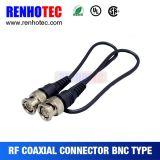 Rg179/Rg174/Rg316/Rg58/Rg59를 위한 두 배 BNC 남성 플러그 연결관