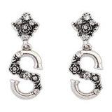 Form-Cloisonne Ohrring mit Winkel-Flügel-Ohrring
