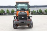 O Ce da máquina da construção aprovado articulou carregador pequeno da roda de 2 toneladas o mini com cabine de Rops&Fops