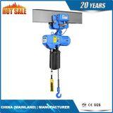élévateur à chaînes électrique du double automne 3t à chaînes avec la suspension de crochet