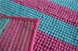 Schleifen-Stapel weiche rutschfeste Microfiber Noppe-Chenille-Fußboden-Badezimmer-Matte