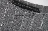 Camisa larga de las mujeres del algodón gris del `S