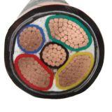 4 o núcleo XLPE isolou cabo distribuidor de corrente blindado do cobre do revestimento do PE da fita de aço