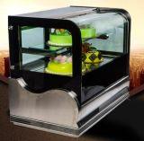 De Koeler van de Showcase van de Cake van de Lijst van het Roestvrij staal van de Deur van het Glas van de kromme met Ce, CITIZENS BAND, RoHS