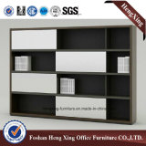 Meubles de bureau modernes de mélamine de portes de bibliothèque en verre en aluminium de bureau (HX-6M273)