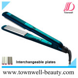 2 em 1 encrespador de cabelo de venda quente com placas permutáveis