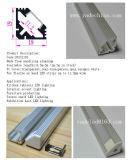 Profil en aluminium anodisé par argent en aluminium en gros de bande de l'extrusion DEL de DEL