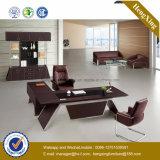 Черная мебель управленческого офиса таблицы ноги металла цвета (NS-NW115)