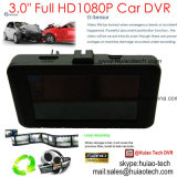 """새로운 3.0 """" 전시 FHD1080p 5.0mega 차 DVR 붙박이 Ar0330 CMOS 차 사진기, 170degree 전망 각, G 센서, 주차 통제 DVR-3032"""