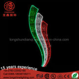 Luz do motivo da rua de Pólo da bandeira do diodo emissor de luz América Kuwait 2D para a decoração do dia nacional