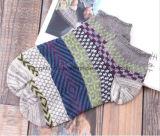 Ретро сверхсчетные яркие носки отрезока низкого уровня платья жаккарда