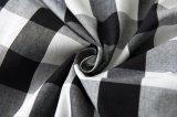 Falda de tela escocesa blanca del alto de la cintura de Inspred del círculo negro retro en línea al por mayor del oscilación