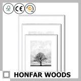 frame de retrato de madeira natural de 30X40cm com a montagem para a decoração