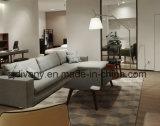 El sofá europeo de la tela de la sala de estar del estilo fijó (D-72-F+H)
