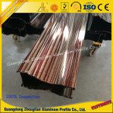 Les graines en bois en aluminium personnalisées du profil PVDF d'extrusion pour la décoration ou les meubles