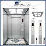 Ascenseur sans engrenages de passager avec la cabine d'acier inoxydable de délié