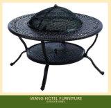 Im Freien Möbel-voller einzelner Aluminiumschlitten-Schwingstuhl für Grill-Tisch-Set