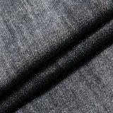 Tessuto viscoso di tela nero del denim dello Spandex del cotone del poliestere di Tencel