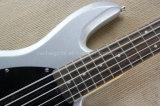 Бас шнуров нот Hanhai/серебряного серого цвета 5 электрический с активно линией