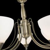 Iluminação de pingente de vidro de ferro europeu para casa