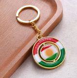 Recuerdo de encargo Keychain del sostenedor del clave del anillo dominante de la insignia del regalo de la promoción